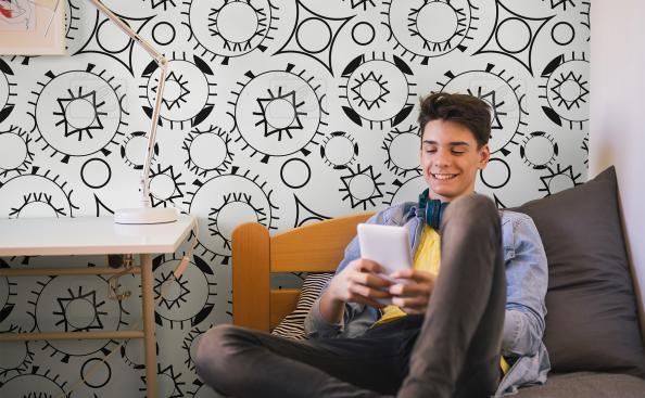 Abstrakcyjna tapeta dla nastolatka