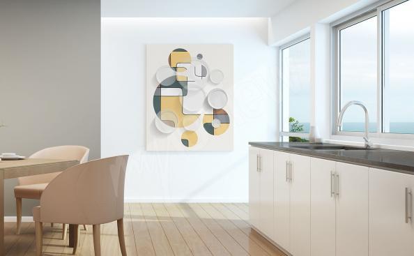 Abstrakcyjny obraz do kuchni