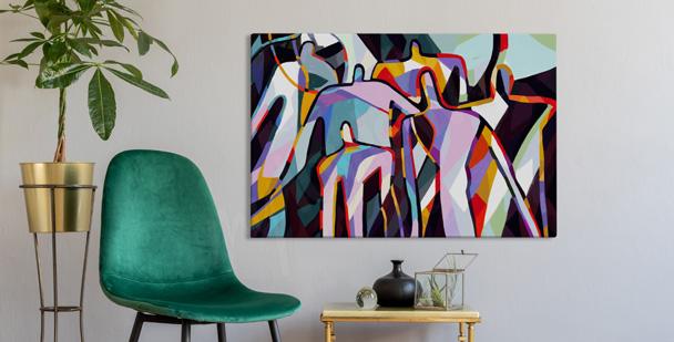 Abstrakcyjny obraz kubizm