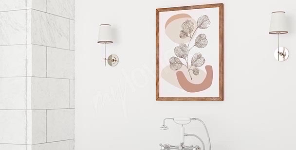 Abstrakcyjny plakat do łazienki