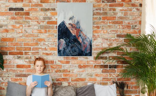 Abstrakcyjny plakat góry