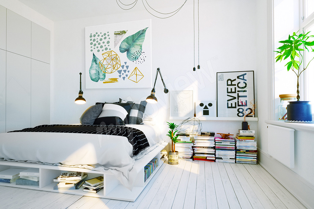 Abstrakcyjny obraz do pokoju nastolatka