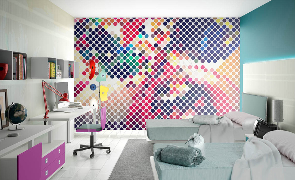 Fototapeta abstrakcyjna do pokoju nastolatki