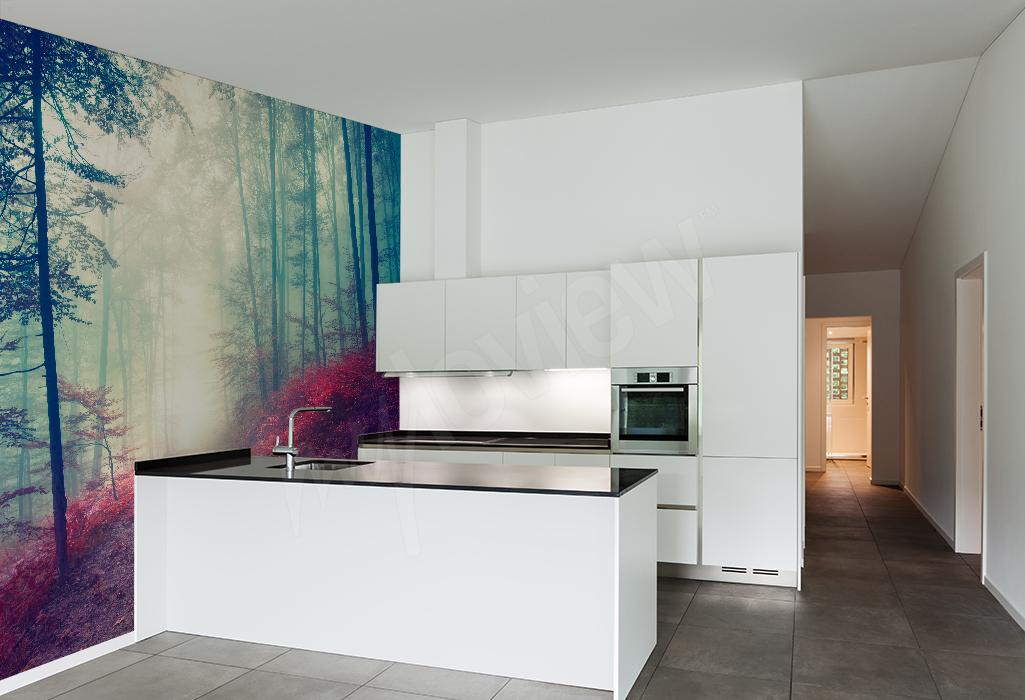 Fototapeta do kuchni leśny krajobraz