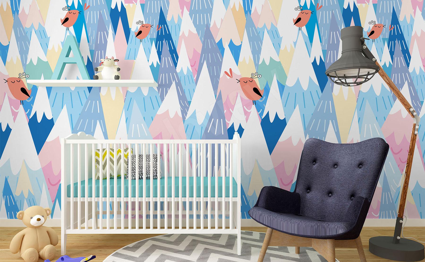 e91d499f6af078 Przejdź do produktu · Fototapeta do pokoju dziecięcego pastele