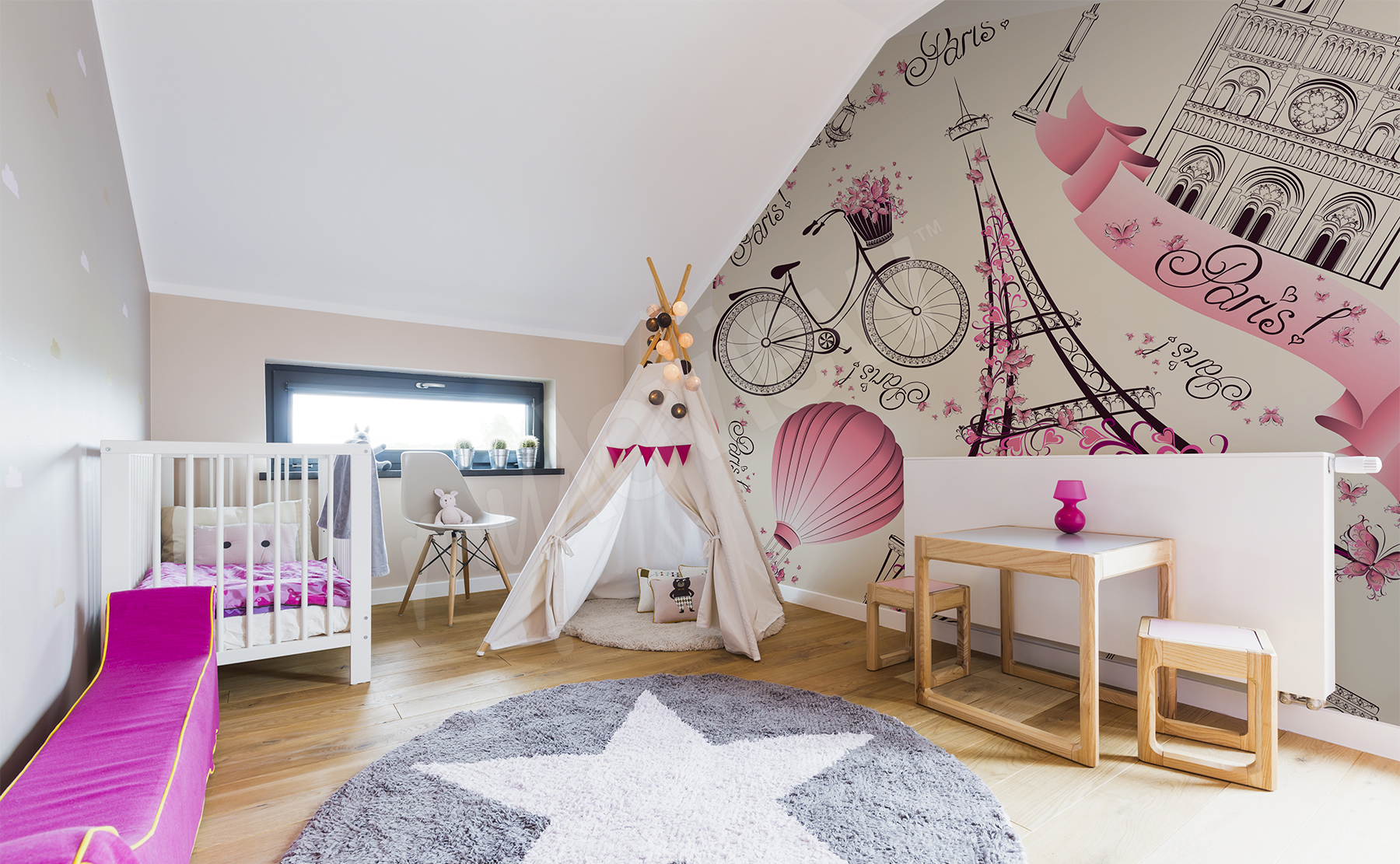 6e353d75a9ebe5 Przejdź do produktu · Fototapeta do pokoju dziewczynki Paryż