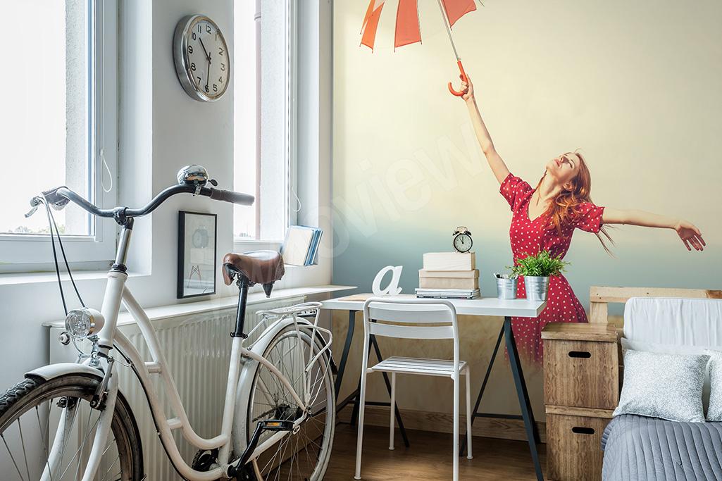 Fototapeta do pokoju dziewczyny parasolka
