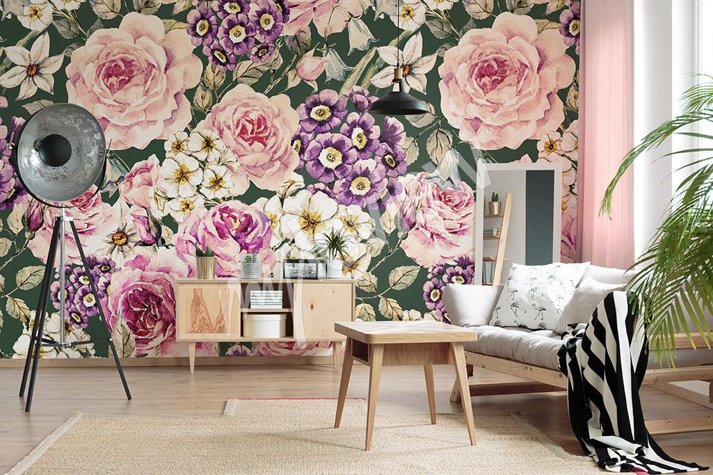 Fototapeta duży print w kwiaty
