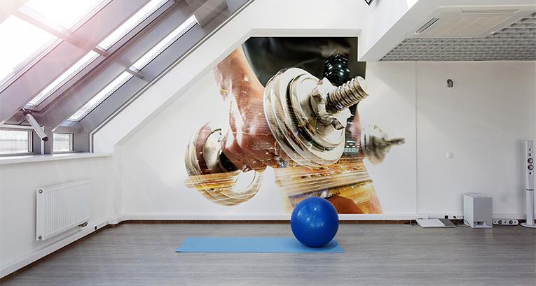 Legalny doping dla wnętrza: fototapety do fitness clubu i siłowni