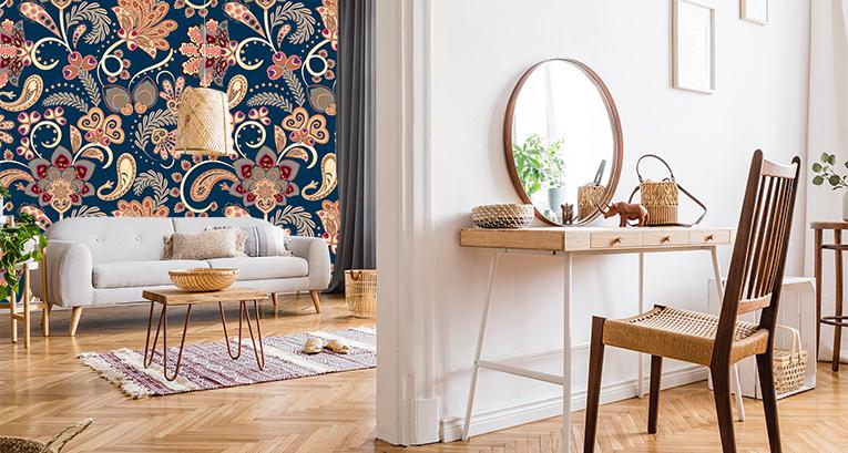 Folkowe dodatki do wnętrza – wprowadzamy kolory do salonu, sypialni i kuchni!