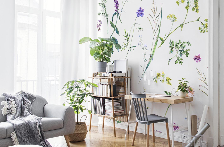 Fototapeta kwiaty i zioła