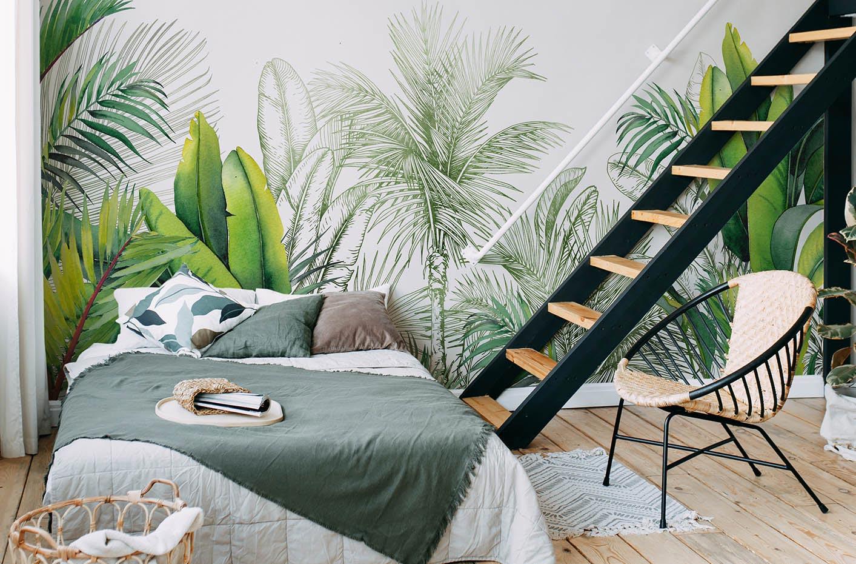 Fototapeta liście i palmy