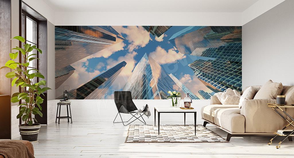 Fototapeta optycznie powiększająca wnętrze - architektura