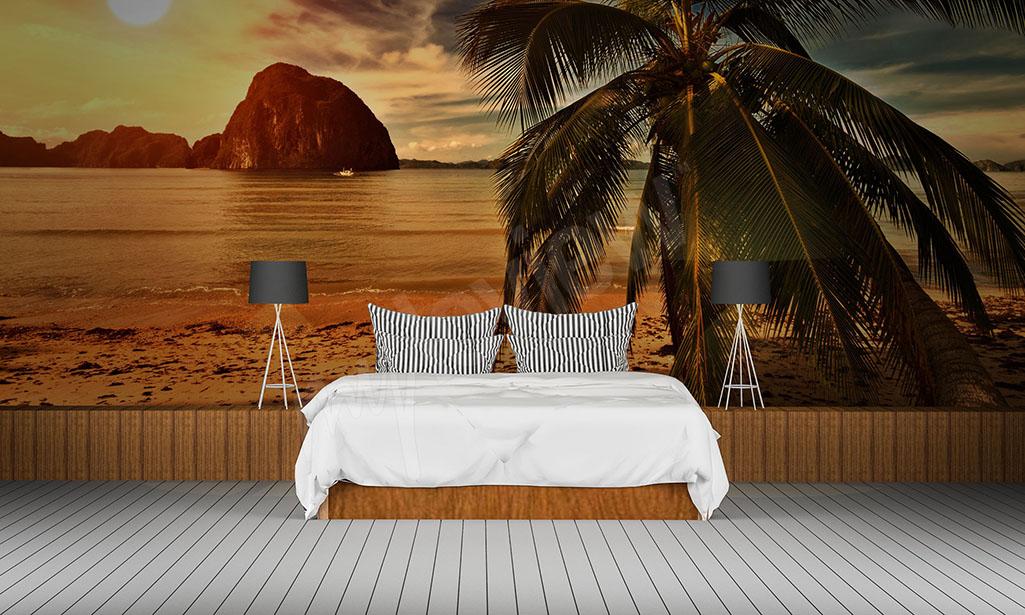 Fototapeta plaża i palma