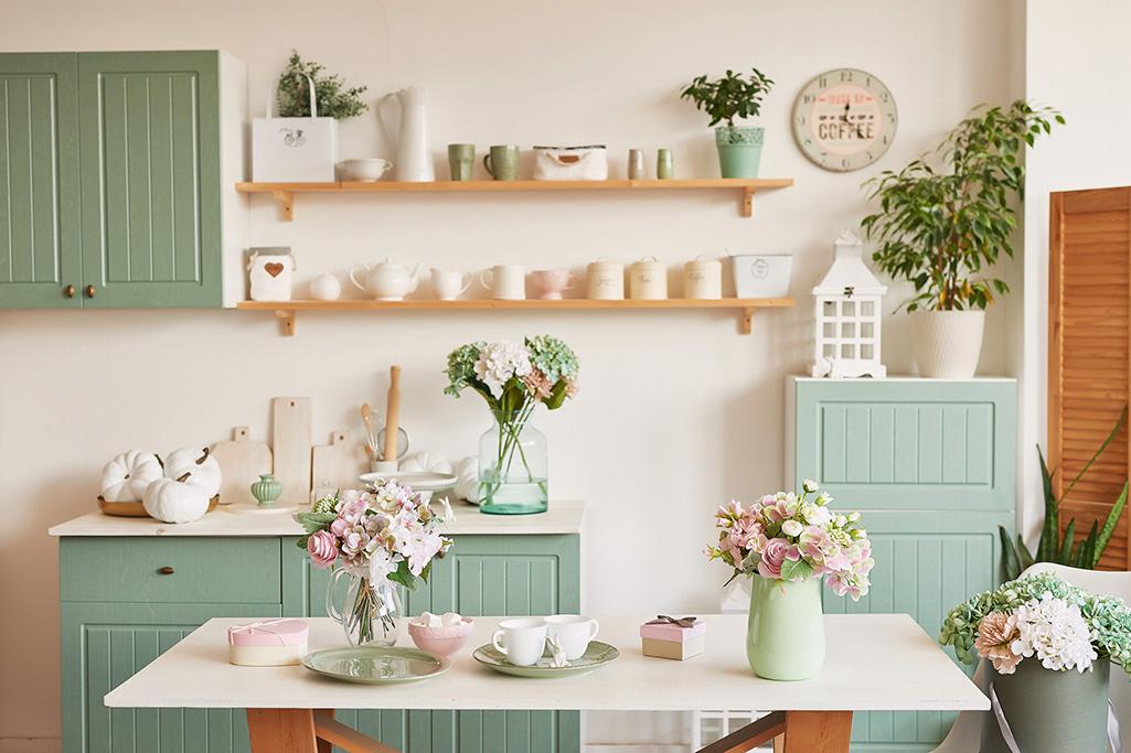Kuchnia w pastelowych barwach