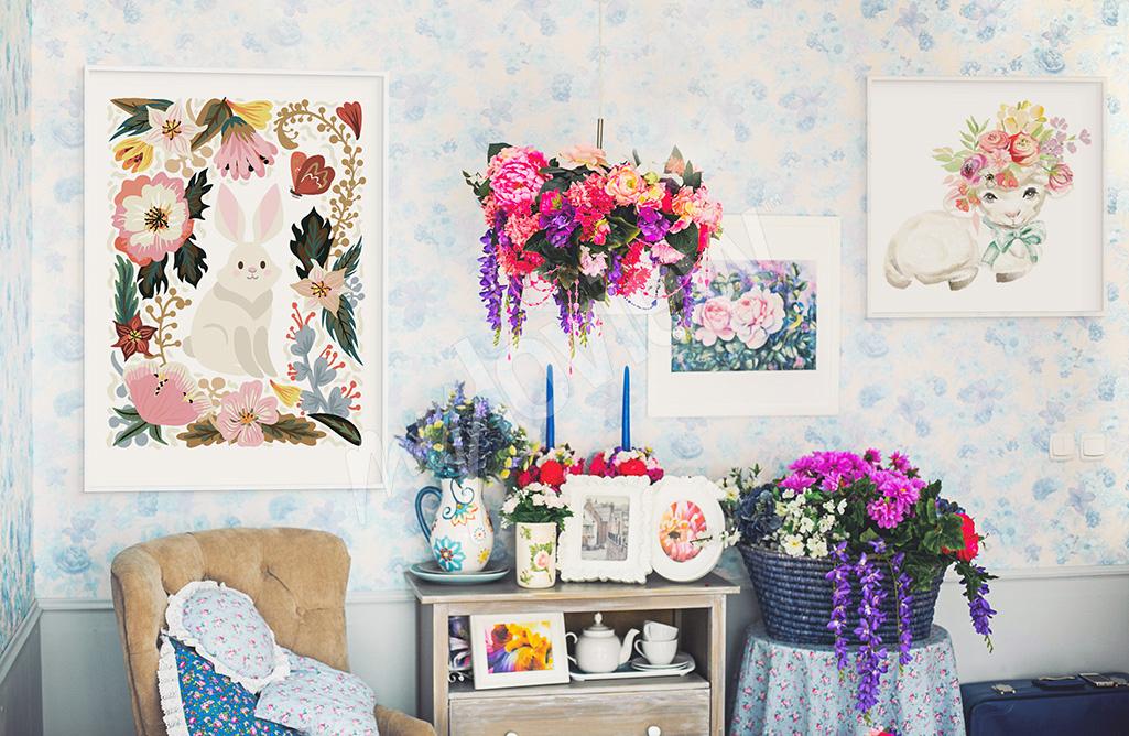 Kwieciste plakaty wiosenne