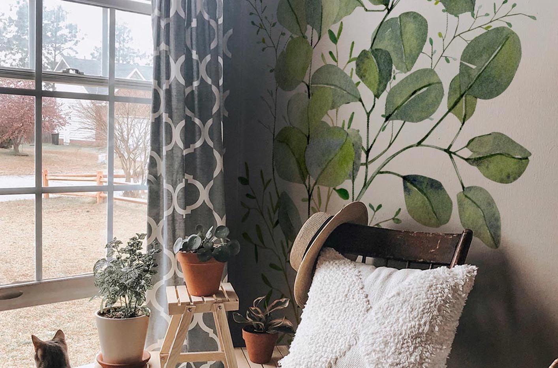 Naklejka liście eukaliptusa