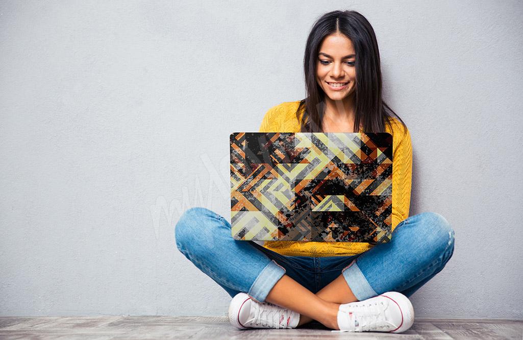 Naklejka na laptopa abstrakcja
