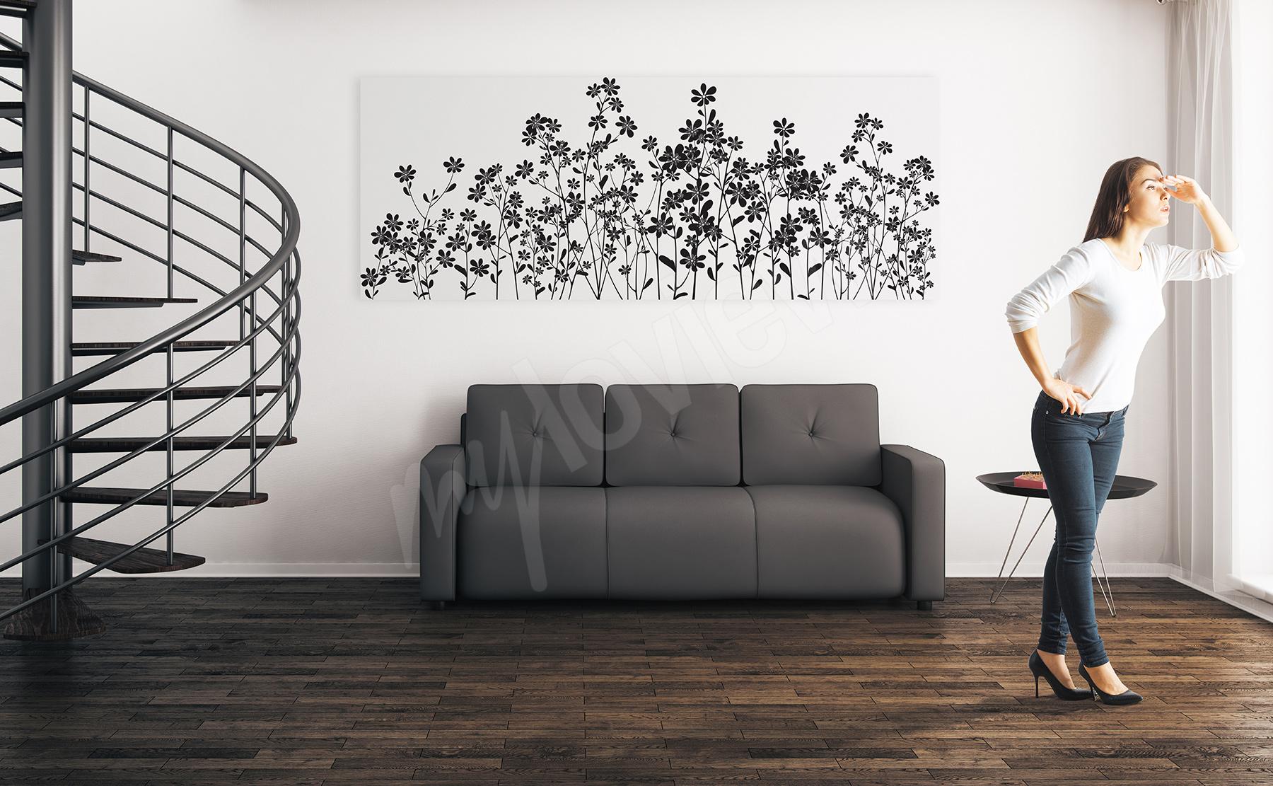 Obrazy Kwiaty Czarno Białe Obrazy Na ścianę Myloviewpl