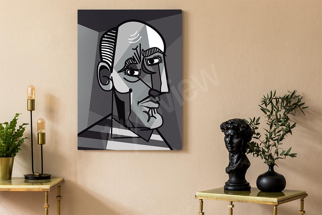 Obraz w kubistycznym stylu może być świetnym dopełnieiem młodzieżowej przestrzeni - takie dodatki wnętrarskie to ostatnio prawdziwy must have!