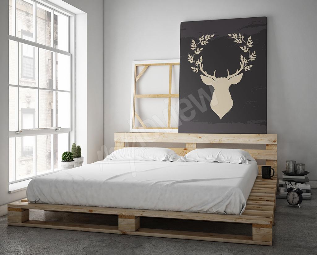 Obraz w stylu skandynawskim z jeleniem