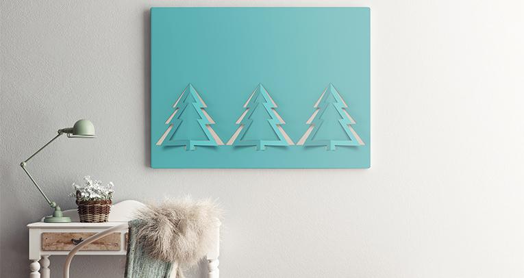 Świąteczne dekoracje - plakat bożonarodzeniowy w roli głównej