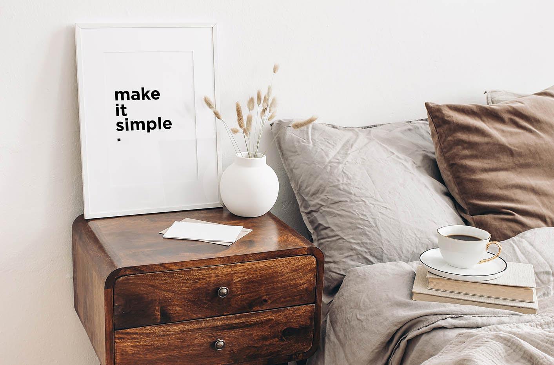 Plakat minimalistyczny napis