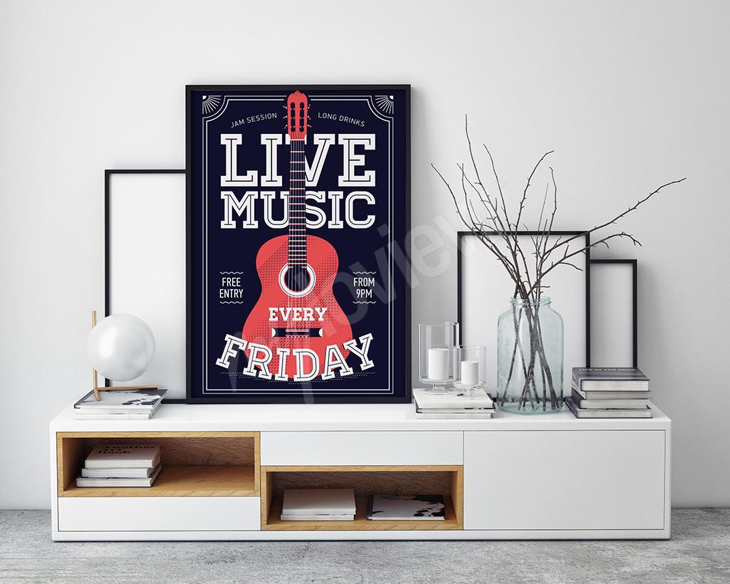 Plakat muzyczny urodzinowy