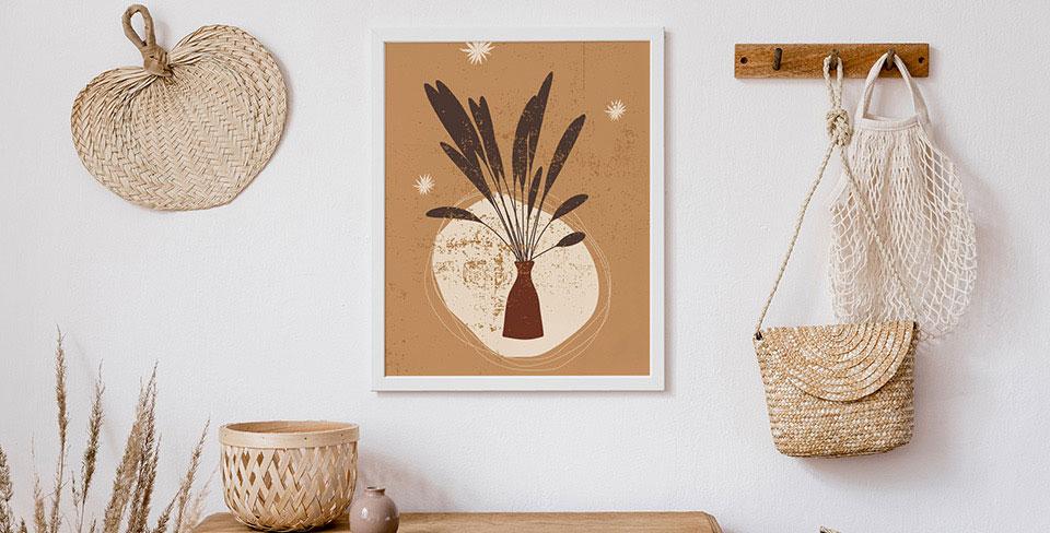 Plakat trawy w wazonie