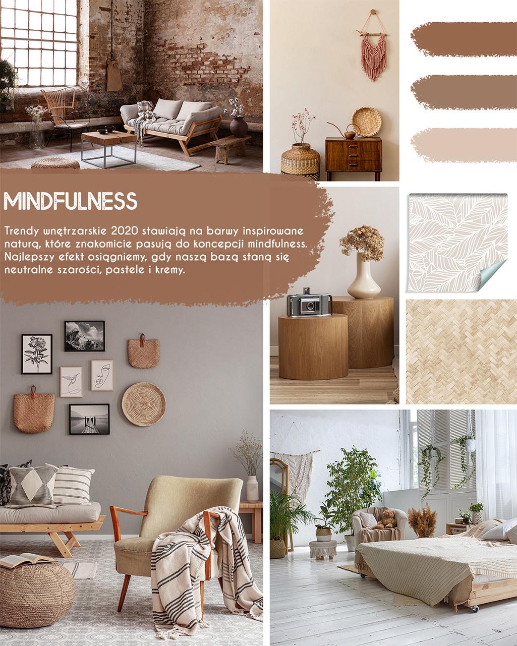Trend mindulness to głównie kolory ziemi i uporządkowana przestrzeń