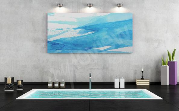 Błękitny obraz do łazienki