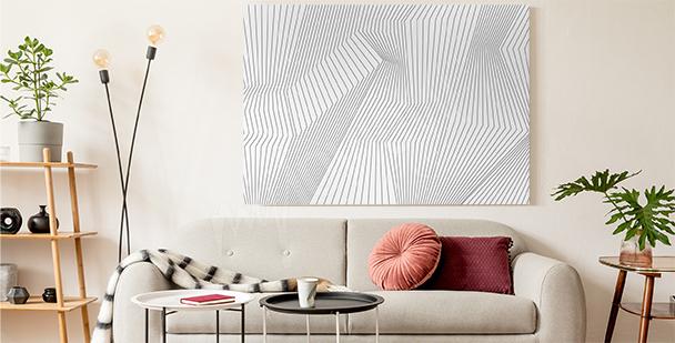 Obraz 3D czarno-biały