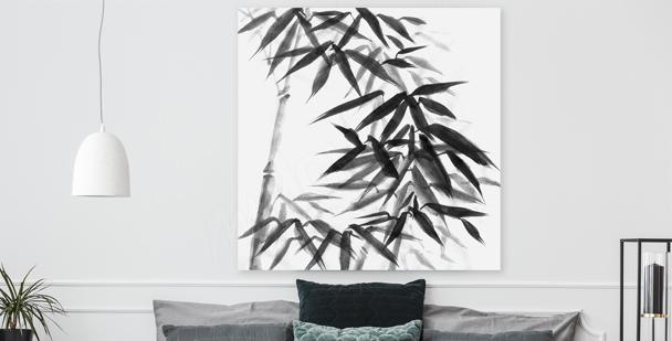 Czarno-biały obraz bambus