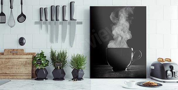 Czarno-biały obraz kawa