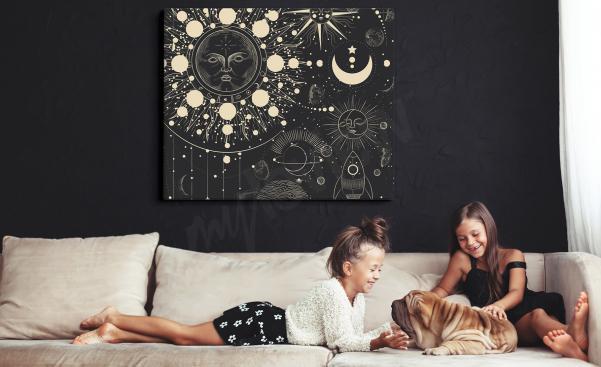 Czarno-biały obraz kosmos