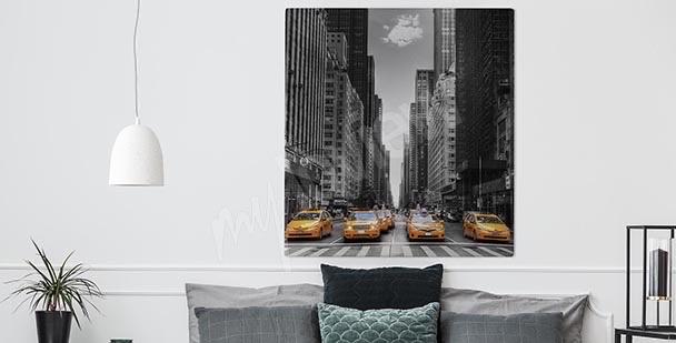 Czarno-biały obraz Nowy Jork