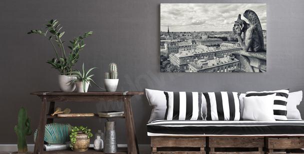 Czarno-biały obraz Paryż