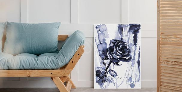 Czarno-biały obraz róża