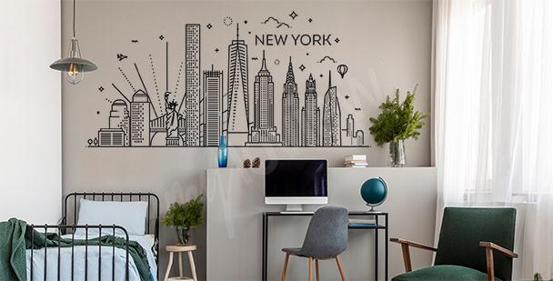 Dekoracyjna naklejka Nowy Jork