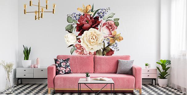 Dekoracyjna naklejka z kwiatami
