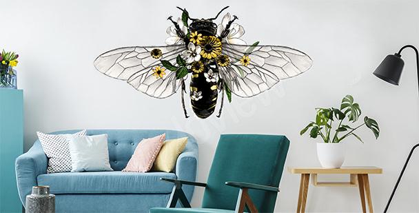 Dekoracyjna naklejka z pszczołą