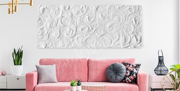 Delikatny obraz białe róże
