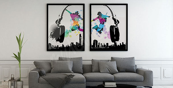 Dwuczęściowy plakat muzyczny