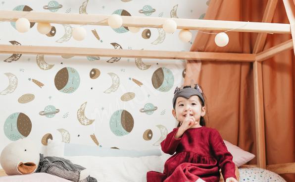 Dziecięca tapeta kosmos