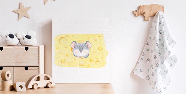 Dziecięcy obraz z myszką