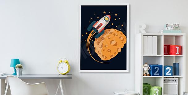 Dziecięcy plakat kosmos