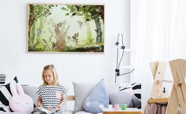 Dziecięcy plakat las