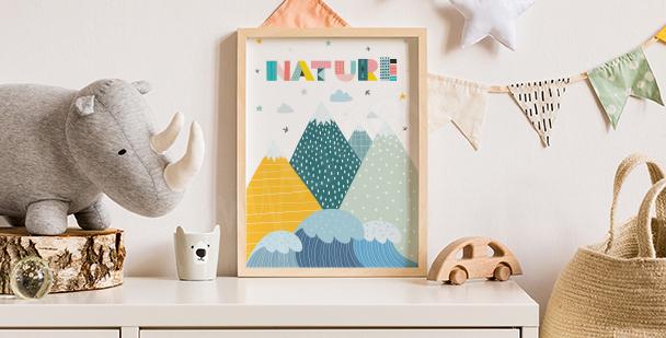 Plakat natura: nostalgiczny obraz