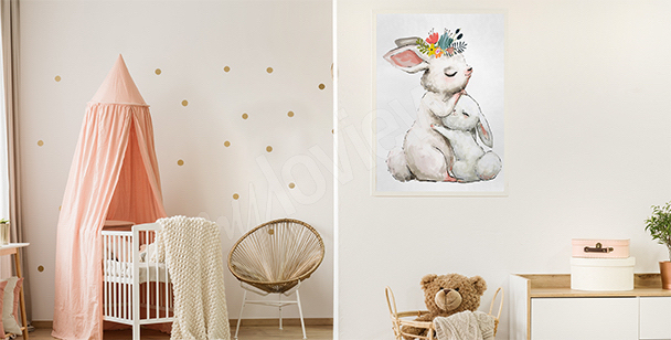 Dziecięcy plakat ze zwierzętami