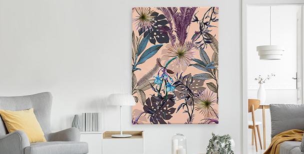 Egzotyczny obraz w stylu floral